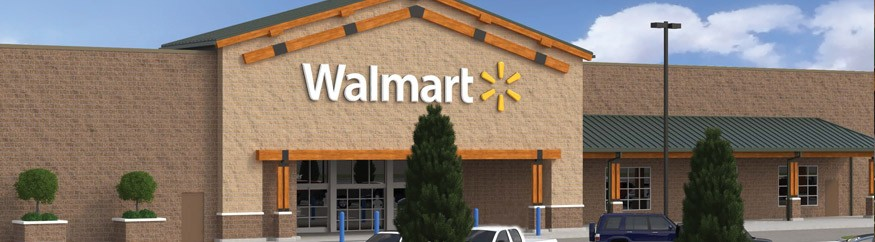 Walmart Site Planning - Site design including a state-of-the-art stormwater system