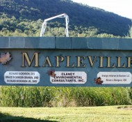 Mapleville Depot (sign)